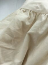 "Double Bed Valance  Pale Yellow With Gathered 13"" Drop Polycotton VGC"