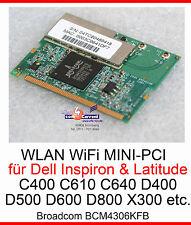 54 MBit MINI PCI WLAN NETZWERKKARTE BCM4306KFB WiFi DELL INSPIRON 300m 500M 5100