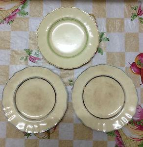 3pcs Old J & G Meakin England Plate - Sunshine Pattern