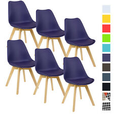 6er Set Esszimmerstühle Design Esszimmerstuhl Küchenstuhl Holz Lila BH29la-6