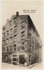 Vintage RPPC Real Photo Postcard HANCOCK House TAVERN Boston Mass. - Ale Wine