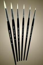 PACK 5 ROUND WHITE SABLE ARTIST PAINT BRUSHES MIXED SIZES  2 4 6 8 /& 10  mb534-5