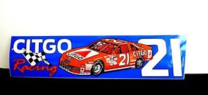 Nascar Citgo Racing 21 Car Bumper Sticker Driver Michael Waltrip More Available