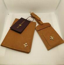 BNWT LUXURY PATRICK COX Light Brown ultra soft Leather Luggage Travel Set