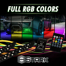 8 Colors LED Strip Underglow Underbody Neon Light Kit Music Control - Compact