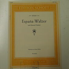 piano solo music CHABRIER espana walzer