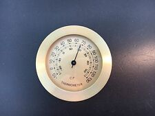 """Brass 2 7/8"""" Thermometer  Fit-Up Insert Movement fits a 2 3/4"""" Hole Flush Edge"""