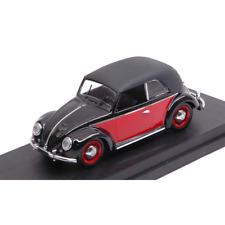 VW CABRIO KARMANN 1949 BLACK/RED 1:43 Rio Auto Stradali Die Cast Modellino
