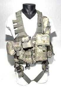 US ARMY ACU UCP MILITARY AIR WARRIOR CREWMAN SURVIVAL VEST POUCHES COBRA BUCKLES