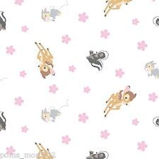 LINED VALANCE 42X12 DISNEY BAMBI MOVIE WOODLAND DREAMS FLOWER THUMPER
