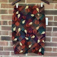 NWT LuLaRoe Cassie leaf print pencil skirt Women's Size US S Regular