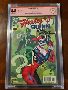 HARLEY QUINN #6 CBCS 8.5 SIGNED BY KARL KESEL, FAUCHER, AND ROUSSEAU 2001 DC