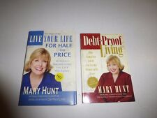 2 Lot Live Your Life for Half the Price and Debt-Proof Living Mary Hunt, PB B299
