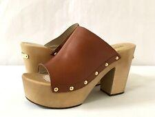 Women MK Michael Kors Beatrice Pump Mule Leather Luggage brown MSRP $150