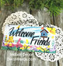Welcome Friends * Wood Sign * USA * DecoWords * Indoor Decor *