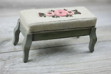 Wood doll bench high sofa couch settee chair stool 1/6