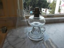 antique OIL LAMP FINGER LAMP SMALL BLOCK PATTERN KEROSENE OIL #78