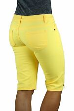 NEON Casual Women BERMUDA Walking Shorts Color Skinny Stretchy Comfy Colorful