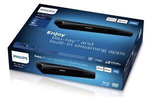 BRAND NEW IN BOX!! Philips BDP2501/F7 Blu-ray Player - Black