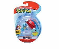 NIB Pokemon Clip 'n' Go Squirtle & Poke Ball Action Figure Toy 2""