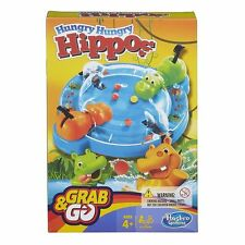 Hasbro Gaming Elefun and Friends Hungry Hippos Grab Go Game Makes Storage Easy