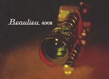 Beaulieu 4008 - Super 8 - Film Camera - Instruction Manual - PDF File