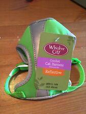 "Whisker City Comfort Cat Harness Green Reflective Girth 13 - 16""(33.0-40.6cm)"
