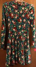 Women's Ugly Green Christmas Santa Dress Size S NWT