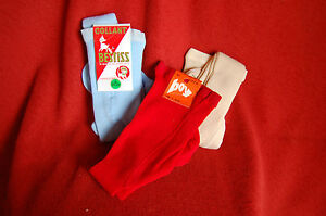 Lot de 3 Collants  taille 1 an polyamide et acrylique