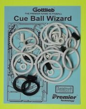1992 Gottlieb Cue Ball Wizard pinball rubber ring kit