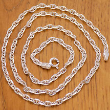 "Classic 925 Sterling Silver Italy Unisex Anchor Chain Necklace 50 cm/ 19.7"" Long"