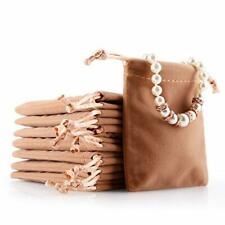 Oirlv 50pcs Velvet Jewelry Storage Bags Small Accessories Collected Drawstrin