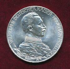 3 Mark Silbermünzen aus dem deutschen Kaiserreich mit Silber auf Stempelglanz