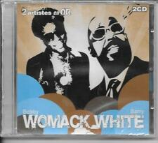 2 CD COMPIL 21 TITRES--BOBBY WOMACK & BARRY WHITE--2 ARTISTES EN OR--NEUF