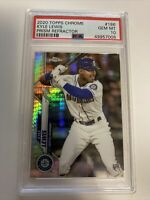 2020 TOPPS CHROME KYLE LEWIS ROOKIE #186 GRADED MINT PSA10 RC PRIZM REFRACTOR RC