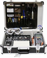 ELENCO XK-700T ANALOG DIGITAL TRAINER IN A PROFESSIONAL ATTACHE CASE WITH TOOLS