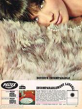 PUBLICITE ADVERTISING 055  1966  PELTEX  tapis de bain