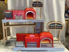 Mattel 2017 Barbie Brick Oven Pizzeria Pizza Chef Kitchen + An Extra For Parts