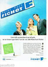 PUBLICITE ADVERTISING 066  1996  Fichet serrures bloc-porte défense Paliéris 787