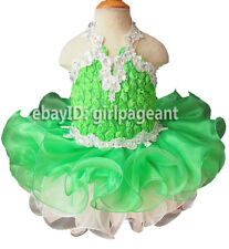 Infant/toddler/baby Lime Green Lace Crystals Pageant Dress 12~18 Months G040-5