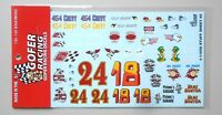 STUFF SHEET #5 NUMBERS 1:24 1:25 GOFER RACING DECALS CAR MODEL ACCESSORY 11056