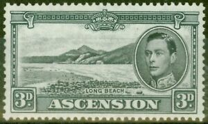 Ascension 1940 3d Black & Grey SG42a V.F Very Lightly Mtd Mint