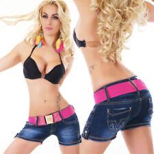 "Jeans Short kurze Hose /""Ms.Push Up/"" Größe 34//36//38//40 Rosa,Türkis,Khaki//Braun"
