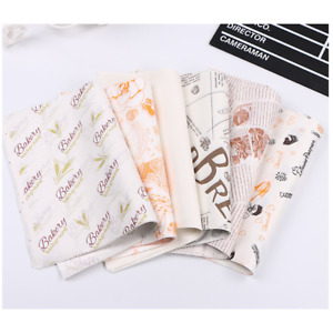 Decorate Wrapping Oil-proof Wax Paper Greaseproof Hamburger Packging Food Bag
