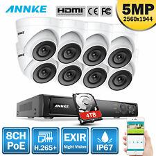 ANNKE 4K NVR POE 5MP IP Caméra Surveillance 8CH IP67 Lecture Intelligente H.265+