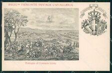 Militari II Reggimento Piemonte Cavalleria Battaglia Luzzara cartolina XF1852
