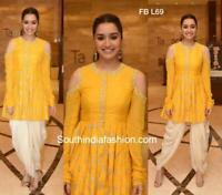 Salwar Kameez Suit Indian Cotton Pakistani Dress Silk Dhoti New Shalwar Ethnic