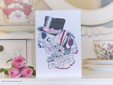 Esqueleto Novia & Novio Con Golondrina Tatuajes Valentine's Day Card
