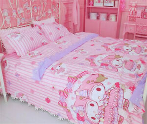 My Melody Cotton Bed Duvet Cover Sheet Quilt Cover 3/4 piece set Suit Pillowcase