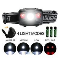 Super Bright LED Headlamp Headlight Camping Torch Flashlight Waterproof 4 Modes